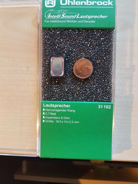 Uhlenbrock 31102 Lautsprecher m.Schallkapsel 18,5x13x2,5mm, 8 Ohm, 0,7W