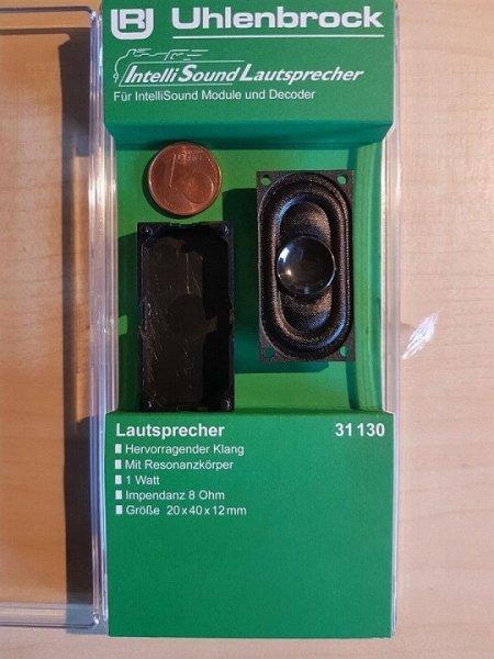 Uhlenbrock 31130 Lautsprecher m.Schallkapsel 40x20x12mm, 8 Ohm, 1,0 W