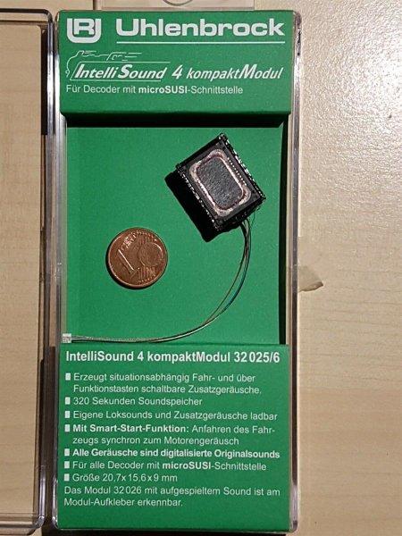 Uhlenbrock 32025 Kompakt Soundmodul4 +Lautsprecher +Sound kleinem SUSI Stecker
