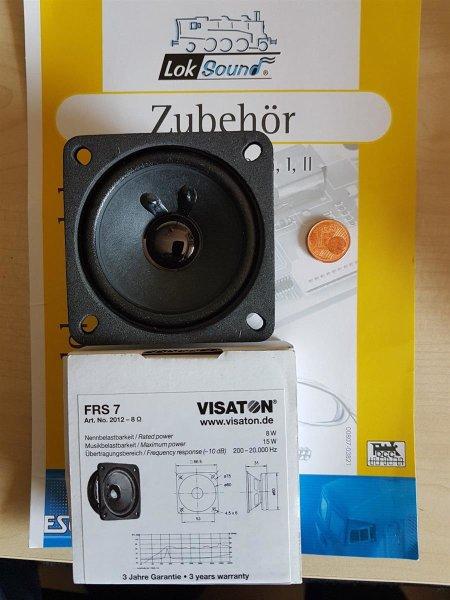 ESU 50324 XL Lautsprecher Vistaton FRS 7 66,5mm x 66,5mm, 31mm dick 8 Ohm
