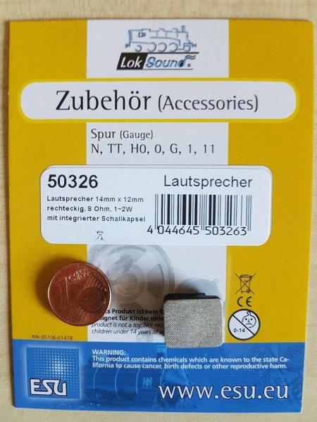 ESU 50326 Lautsprecher m.Schallkapsel 14mmx12mmx5,5mm, 8 Ohm, 1-2W,