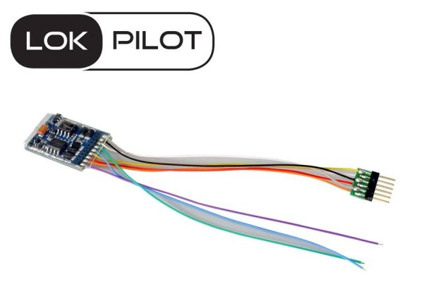 ESU 59616 LokPilot 5 Decoder 6-pol Stecker NEM 651 DCC/MM/SX/M4 RailCom (54612)
