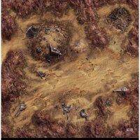 FFG Star Wars Legion: Desert Junkyard Spielmatte 3x3