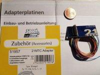 ESU 51957 Adapterplatine 21MTC mit Kabelbaum und 8...