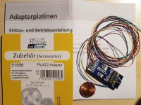 ESU 51958 Adapterplatine PluX22 mit Kabelbaum und 9...