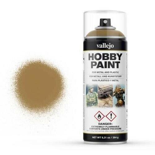 Vallejo Hobby Paint Spray Primer Desert Yellow 400ml (30€/1L)