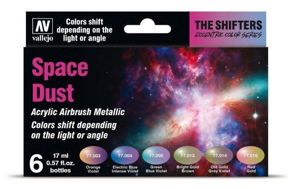 Vallejo Model Air 77.091 Space Dust Set The Shifters Acrylic Airbrush Metallic
