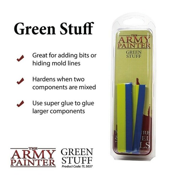 The Army Painter: Green Stuff Kneadatit Modelliermasse (ca. 20cm)