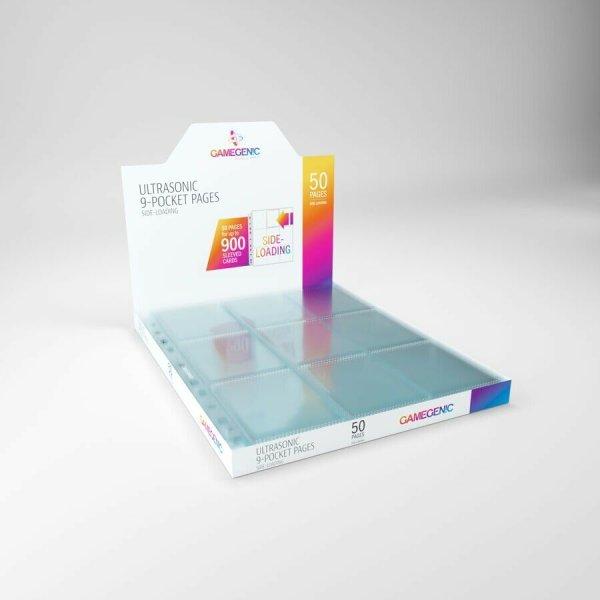 Gamegenic Ultrasonic 9-Pocket Pages Sideloading DISPLAY Transparent Clear (50 Stk.)