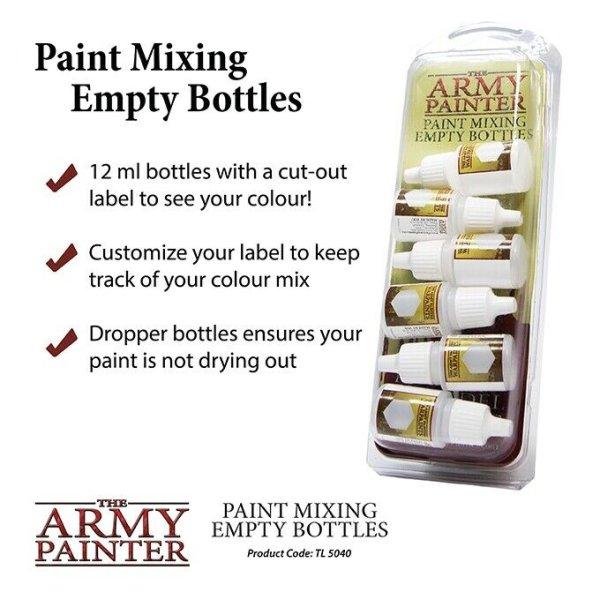 The Army Painter TL5040 6x Leerfläschchen/ Paint Mixing Empty Bottles