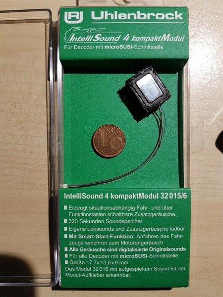 Uhlenbrock 32015 Kompakt Soundmodul4 +Lautsprecher +Sound kleinem SUSI Stecker **