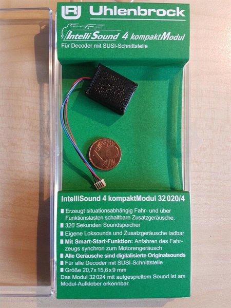 Uhlenbrock 32020 Soundmodul4 +Lautsprecher+ Sound großem SUSI Stecker