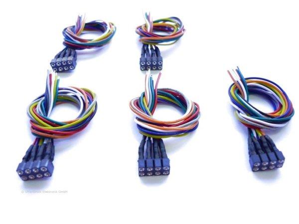 Uhlenbrock 71621 8-polige Buchsen mit Kabel NEM 652 Beutel=5 Stk (wie ESU 51950)