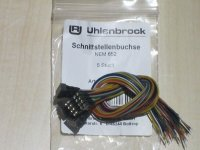 Uhlenbrock 71621 8-polige Buchsen mit Kabel NEM 652...