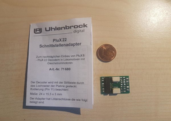Uhlenbrock 71680 Schnittstelle Plux 8,12,16,22 + Anschluss SUSI+LISSY