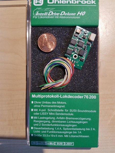 Uhlenbrock 76200 IntelliDrive Deluxe H0 Decoder DCC/MOT/SUSI für Allstrommotoren