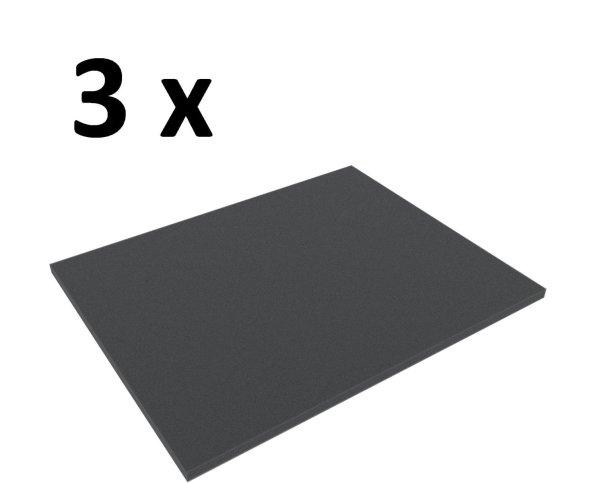3x Feldherr FS010B Full-Size Schaumstoffboden / Schaumstoffabdeckung 10 mm