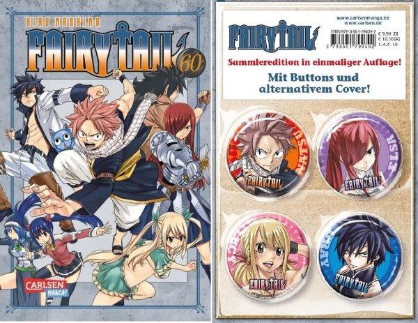 Fairy Tail 60 Sammleredition, Buttons sonder Cover