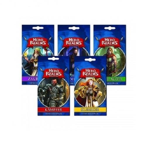Hero Realms Charakter Pack: Kämpfer, Waldläufer, Kleriker, Zauberer, Dieb (DE)