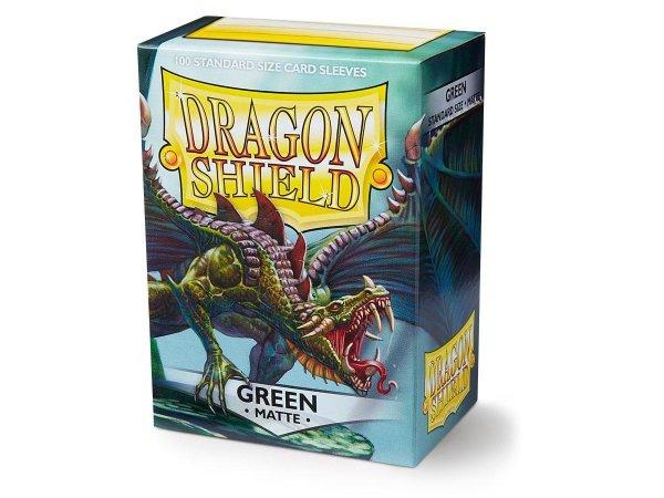 Dragon Shield Matte: Grün Green 66x92mm (100 Stück) Schutzhüllen Sleeves