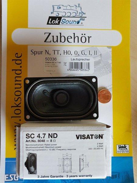 ESU 50336 XL Lautsprecher Vistaton SC 4.7 ND, 71x41mm, 27mm dick, 8 Ohm (A)