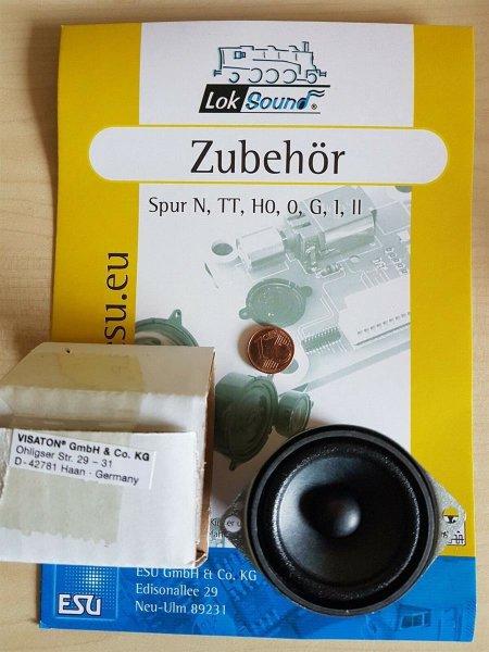 ESU 50337 XL Lautsprecher Vistaton FRS 5, 50mm rund, 32mm dick, 8 Ohm
