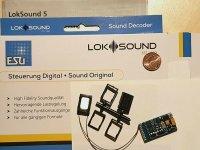 ESU 58449 H0 LokSound5 Decoder DCC/MOT/mfx 21MTC NEM660...