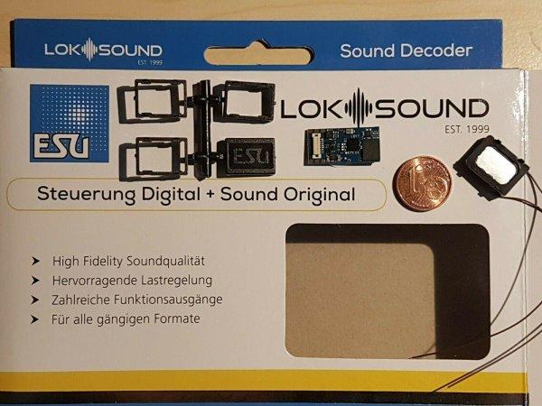 ESU 58818 N/TT/H0 LokSound5 Micro DCC/MOT/mfx Next18 +Lautspr. +Wunschsound