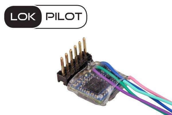 ESU 59837 LokPilot 5 Micro Decoder 6-pol Direkt gewinkelt DCC/MM/SX RailCom