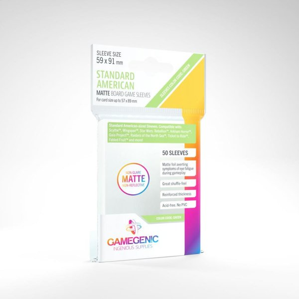 Gamegenic Matte Standard American Board Game Sleeves Hüllen 59 x 91 mm (50 Stk)