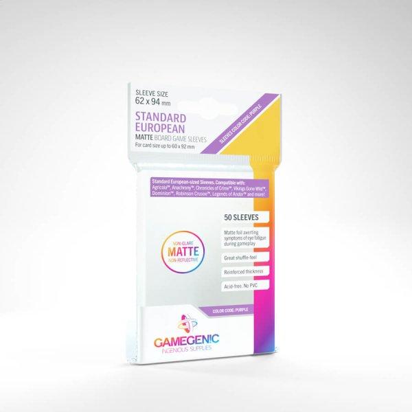 Gamegenic - Matte Prime Standard European Card Game Sleeves 62 x 94 mm - Non-Glare (50)