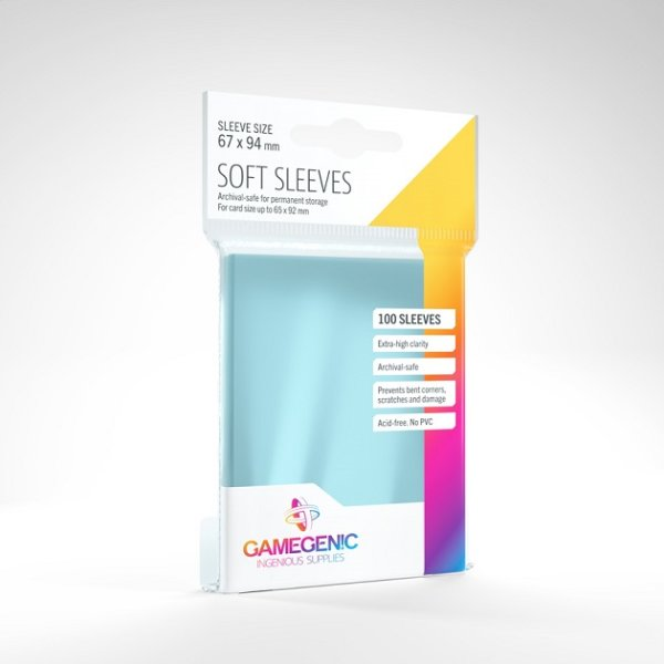 Gamegenic - Soft Sleeves - Clear (100 Sleeves)