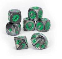 Blood-Bowl-Würfelset Dice Set: Black-Orc-Team