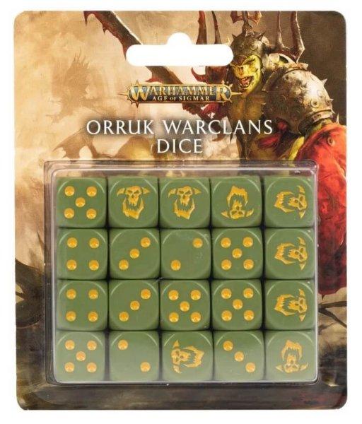 Orruk Warclans - 16 mm Dice Set Würfel des Orruk-Kriegsclans (20 Stk)