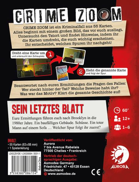 Crime Zoom Fall 1 – Sein letztes Blatt (DE)