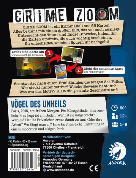 Crime Zoom Fall 2 – Vögel des Unheils (DE)
