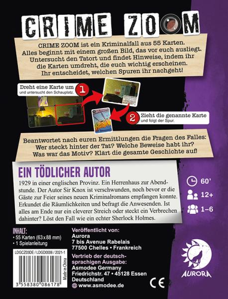Crime Zoom Fall 3 – Ein tödlicher Autor (DE)