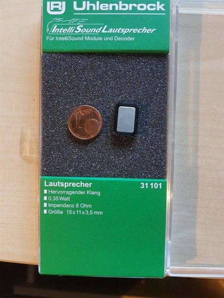 Uhlenbrock 31101 Lautsprecher m.Schallkapsel 15mmx11mmx3,5mm, 8 Ohm, 0,35W
