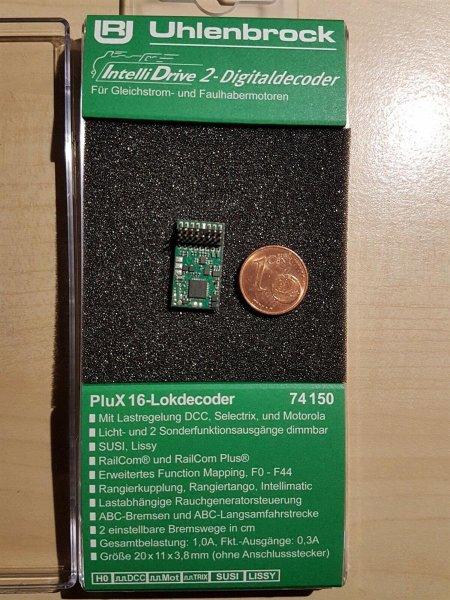 Uhlenbrock 74150 IntelliDrive2 PluX16 Lokdecoder MOT DCC SUSI   (76150)