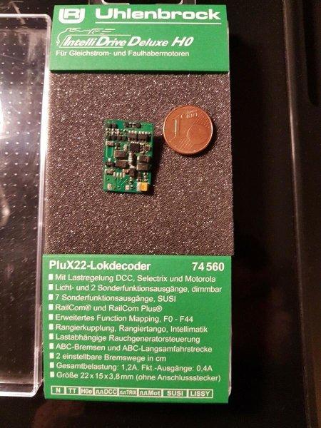 Uhlenbrock 74560 Multiprotokoll Lokdecoder PluX22 MOT DCC SUSI  (76560)