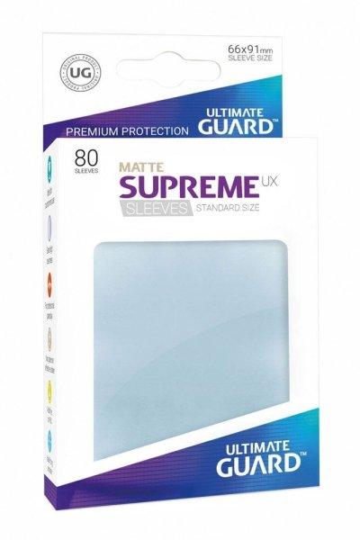 Ultimate Guard Supreme UX Sleeves Standard Matt Transparent Clear (80 Hüllen)
