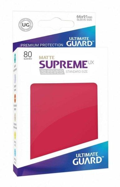 Ultimate Guard Supreme UX Sleeves Standardgröße Matt Rot (80)