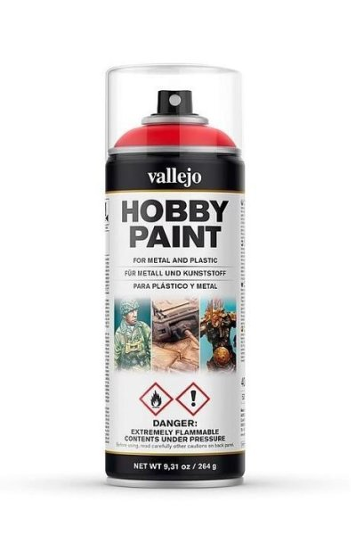 Vallejo Hobby Paint Spray Primer Scarlet Red 400ml (30€/1L)
