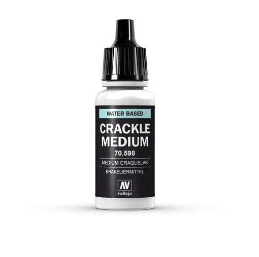Vallejo 70.598 Model Color: 198 Krakeliermittel (Crackle Medium), 17 ml (598)