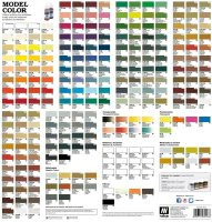 Vallejo Model Color Flyer Farbtabelle Prospekt...
