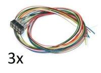 3x ESU 51950 8-polige Buchse NEM 652 mit angelötetem...