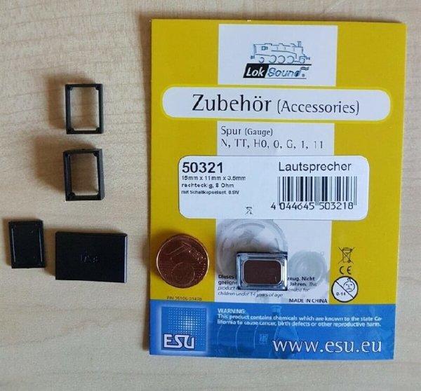 ESU 50321 Lautsprecher m.Schallkapsel 15mmx11mmx 3,5 - 10,5mm, 8 Ohm, 0,5W