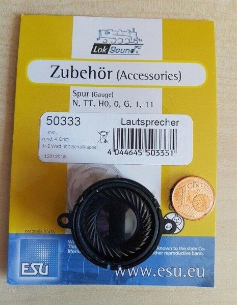 ESU 50333 Lautsprecher m.Schallkapsel 28mm rund, 15,1mm dick, 4 Ohm, 1-2W,
