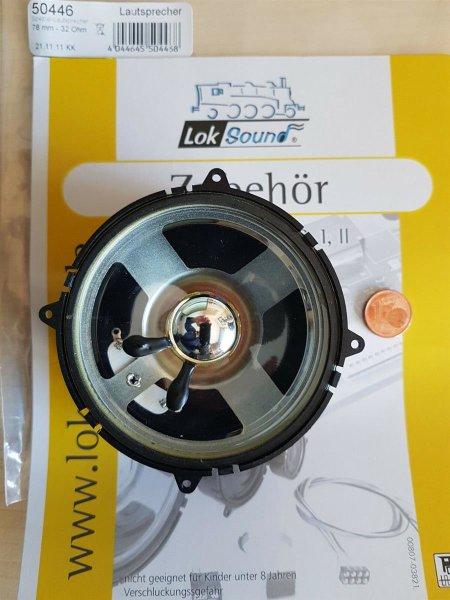 ESU 50446 XL Lautsprecher m.Schallkapsel 78mm rund, 30mm dick 32 Ohm
