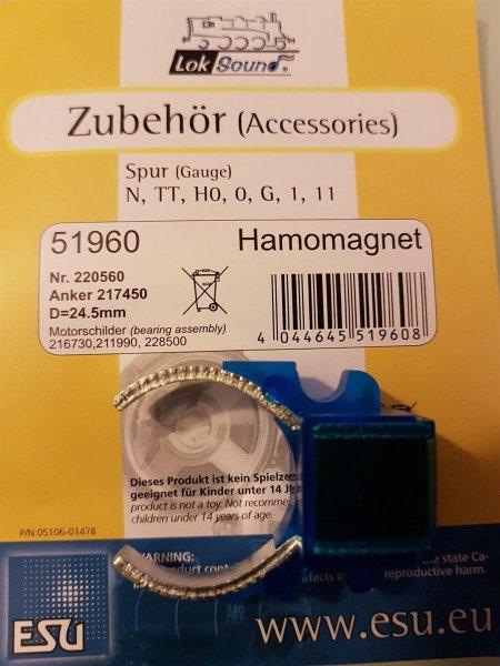 ESU 51960 Permanentmagnet grossen Scheibenkollektormotor z.B. m. ESU 54610